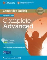 COMPLETE ADVANCED WORKBOOK WITH ANSWERS WITH AUDIO CD 2ND EDITION