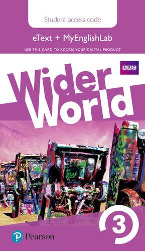WIDER WORLD 3 STUDENTS' EBOOK W/ MEL STUDENTS' AC & EXTRA ONLINE HOMEWORK