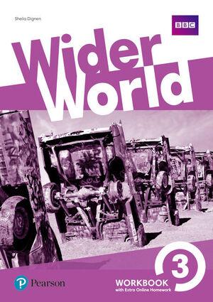WIDER WORLD 3 WB W/ ONLINE HOMEWORK PACK