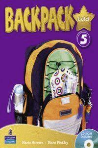 BACKPACK GOLD 5 STUDENT BOOK & CD ROM N/E PACK