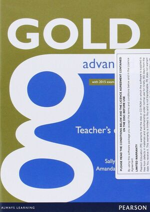 GOLD ADVANCED TEACHER'S BOOK (WITH 2015 EXAM SPECIFICATIONS)