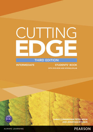 CUTTING EDGE 3RD EDITION INTERMEDIATE STUDENTS' BOOK WITH DVD AND MYENGLISHLAB P