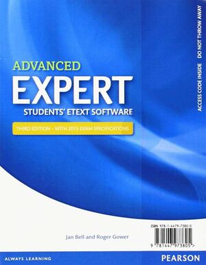EXPERT ADVANCED (STUDENTS' ETEXT SOFTWARE)
