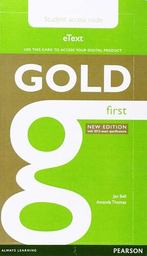 GOLD FIRST NEW EDITION  STUDENT ACCESS CARD
