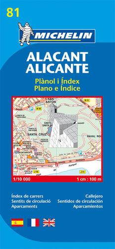 PLANO MICHELIN ALICANTE 81