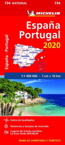 MAPA ESPAÑA-PORTUGAL 2020