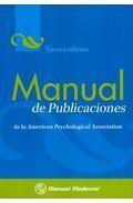 MANUAL DE PUBLICACIONES DE LA AMERICAN PSYCHOLOGICAL ASSOCIATION. 3ª ED.
