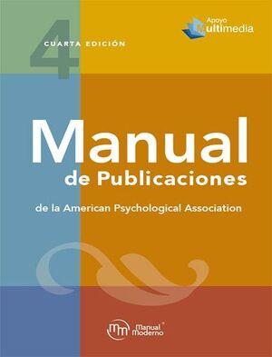 MANUAL DE PUBLICACIONES DE LA AMERICAN PSYCHOLOGICAL ASSOCIATION APA 4ª EDICIÓN
