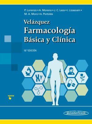 VELÁZQUEZ. FARMACOLOGÍA BÁSICA Y CLÍNICA. 19ª ED..