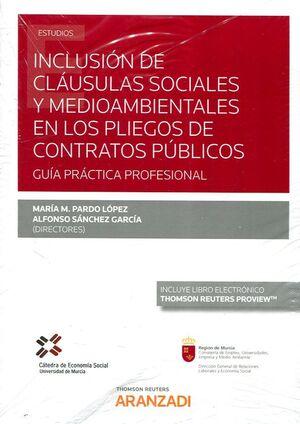 INCLUSIÓN DE CLÁUSULAS SOCIALES Y MEDIOAMBIENTALES EN LOS PLIEGOS DE CONTRATOS P