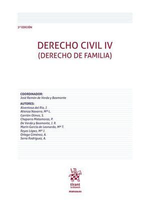 DERECHO CIVIL IV (DERECHO DE FAMILIA) 3ª EDICIÓN