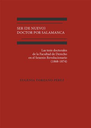 SER (DE NUEVO) DOCTOR POR SALAMANCA