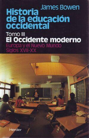 HISTORIA DE LA EDUCACIÓN OCCIDENTAL