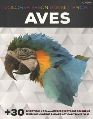 AVES. COLOREE SEGÚN LOS NÚMEROS