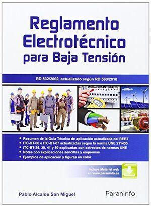 REGLAMENTO ELECTROTÉCNICO PARA BAJA TENSIÓN RD832/2002 ACTUALIZADO SEGÚN RD560/2010
