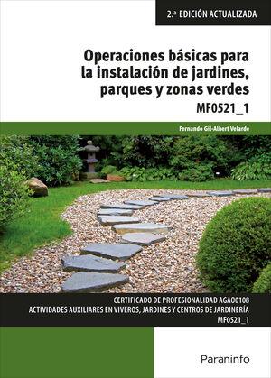 OPERACIONES BASICAS PARA INSTALACIONES DE JARDINES