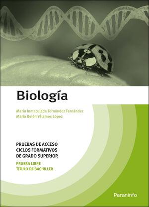 BIOLOGÍA. PRUEBAS DE ACCESO A CICLOS FORMATIVOS DE GRADO SUPERIOR