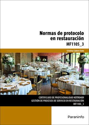 NORMAS DE PROTOCOLO EN RESTAURACIÓN : MF1105_3