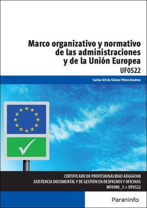 MARCO ORGANIZATIVO Y NORMATIVO DE LAS ADMINISTRACIONES PÚBLICAS Y DE LA UNIÓN EU