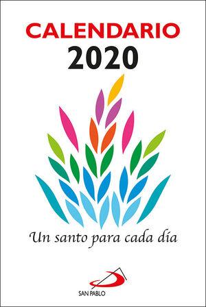 CALENDARIO UN SANTO PARA CADA DÍA 2020 - TAMAÑO GRANDE