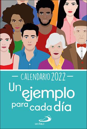 CALENDARIO UN EJEMPLO PARA CADA DÍA 2022 - TAMAÑO GRANDE