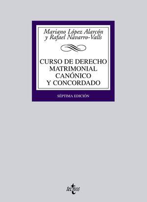 CURSO DE DERECHO MATRIMONIAL CANÓNICO Y CONCORDADO