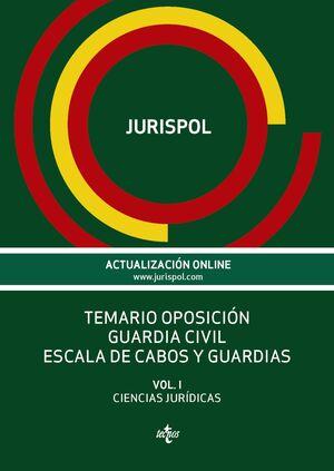 TEMARIO OPOSICIÓN GUARDIA CIVIL ESCALA DE CABOS Y GUARDIAS