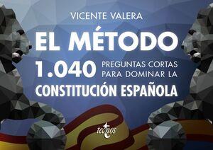 EL METODO 1040 PREGUNTAS CONSTITUCION ESPAÑOLA