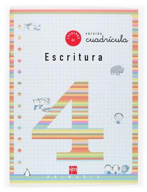 CUADERNO 4 DE ESCRITURA, CUADRÍCULA. 2 PRIMARIA