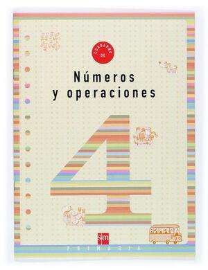 CUADERNO 4 DE NÚMEROS Y OPERACIONES. 2 PRIMARIA