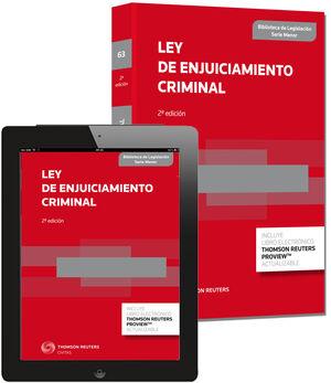 LEY DE ENJUICIAMIENTO CRIMINAL. 2ª ED.