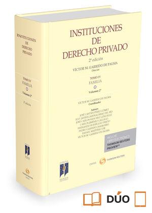 INSTITUCIONES DE DERECHO PRIVADO. TOMO IV FAMILIA. VOLUMEN 2 (PAPEL + E-BOOK)