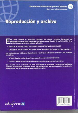 REPRODUCCIÓN Y ARCHIVO