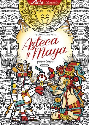 LÁMINAS DE ARTE AZTECA Y MAYA PARA COLOREAR