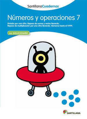 NUMEROS Y OPERACIONES 7 SANTILLANA CUADERNOS