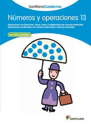 NÚMEROS Y OPERACIONES 13 SANTILLANA CUADERNOS