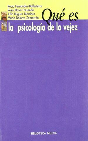 QUE ES LA PSICOLOGIA DE LA VEJEZ
