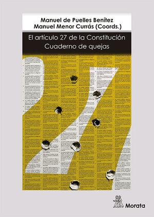 EL ARTÍCULO 27 DE LA CONSTITUCIÓN: CUADERNO DE QUEJAS