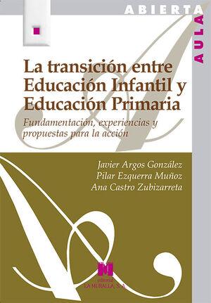 TRANSICION ENTRE EDUCACION INFANTIL Y EDUCACION PR