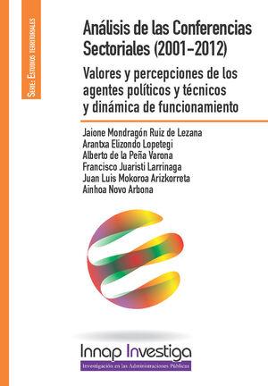 ANÁLISIS DE LAS CONFERENCIAS SECTORIALES(2001-2012)