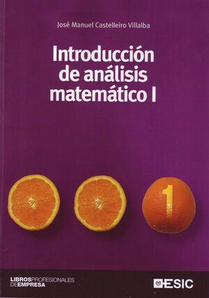 INTRODUCCIÓN AL ANÁLISIS MATEMÁTICO I