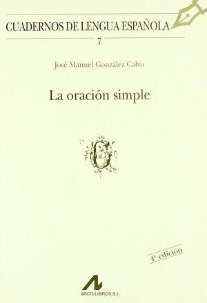 LA ORACIÓN SIMPLE (G)