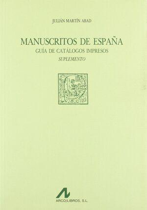 MANUSCRITOS DE ESPAÑA: SUPLEMENTO
