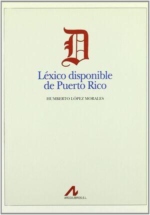 LÉXICO DISPONIBLE DE PUERTO RICO