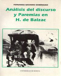 ANÁLISIS DEL DISCURSO Y PAREMIAS EN H. DE BALZAC