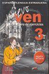 NUEVO VEN 3 - LIBRO DE EJERCICIOS + CD AUDIO