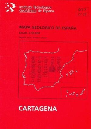 MAPA GEOLÓGICO DE ESPAÑA, ESCALA 1:50.000, N. 977 CARTAGENA
