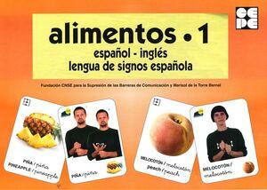 ALIMENTOS  1 BARAJA ESPAÑOL-INGLES