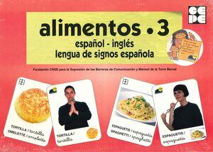 ALIMENTOS 3 BARAJA ESPAÑOL-INGLES