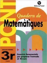 PONT, MATEMÀTIQUES, 3 EDUCACIÓ PRIMÀRIA
